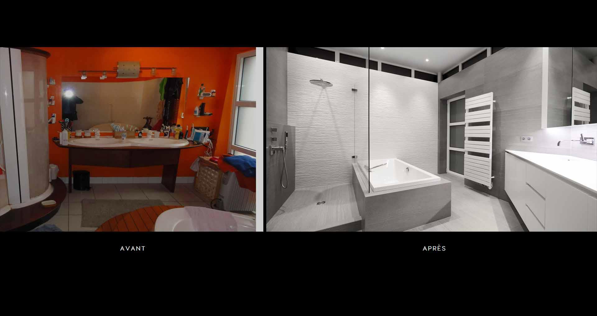 Salle de bain haut de gamme avec douche italienne - réalisations