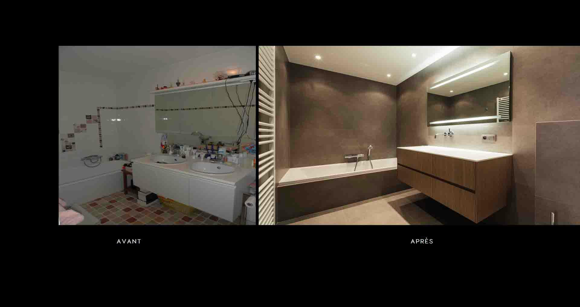 Specialiste salle de bain bruxelles - réalisations - Renov Management