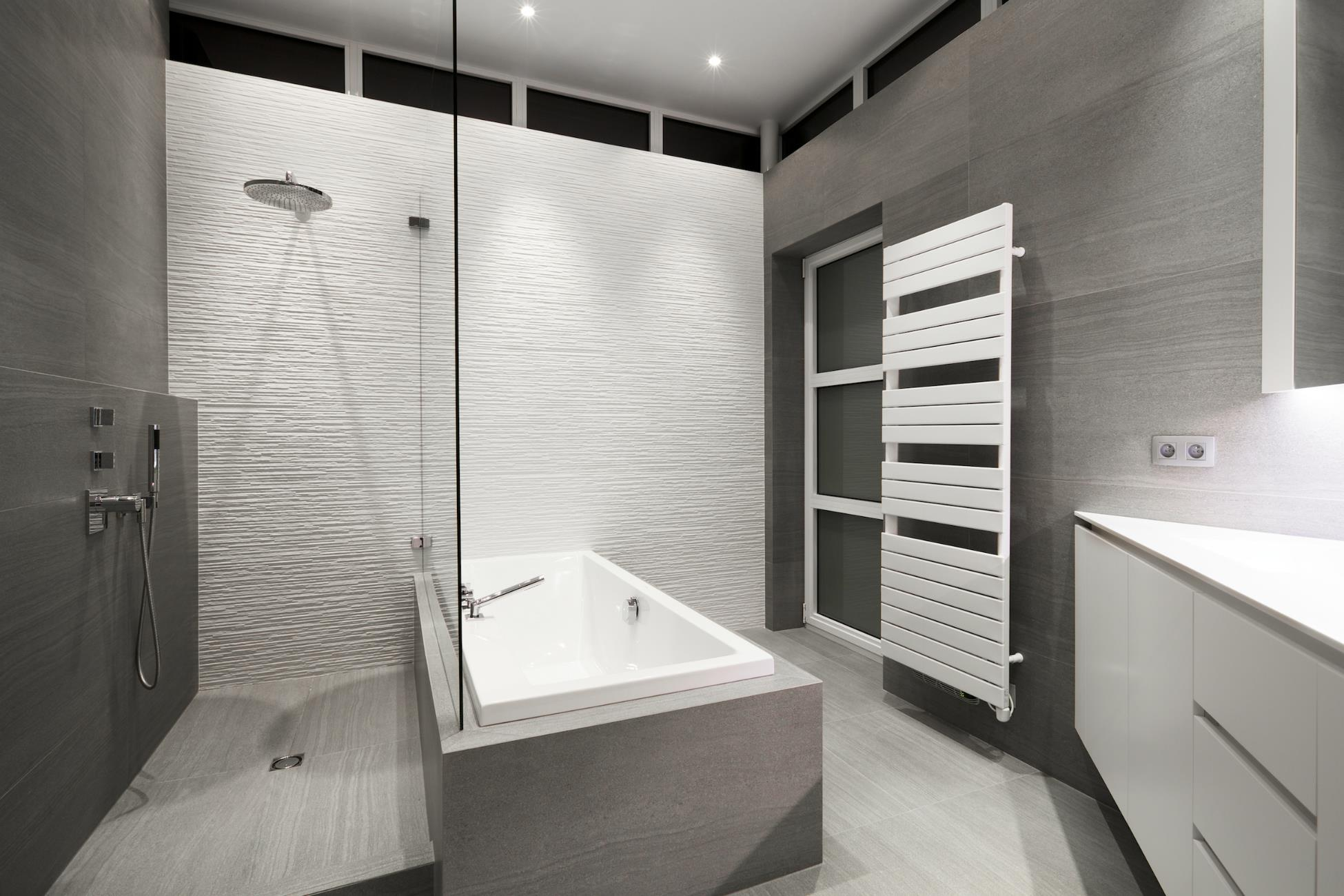 salle de bain haut de gamme avec douche italienne. Black Bedroom Furniture Sets. Home Design Ideas