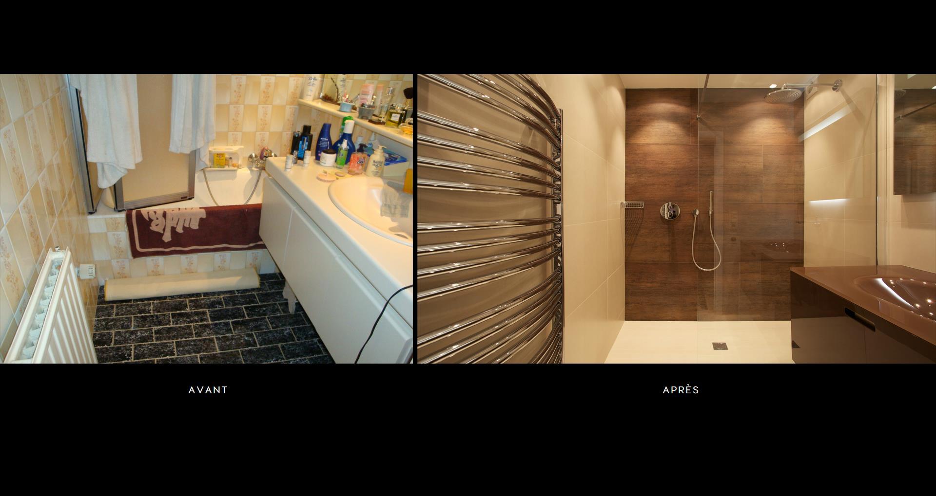 Salle de bain appartement bruxelles avec douche a l\'italienne